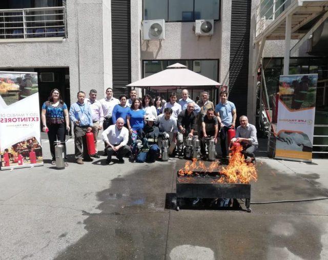 Capacitación contra incendios.